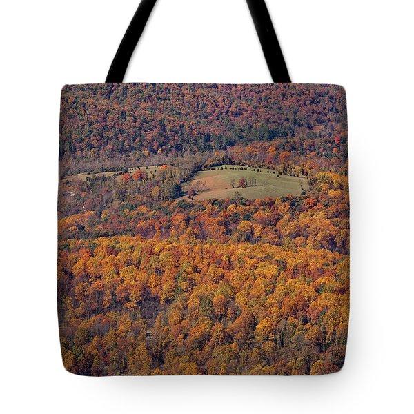 Autumn Mountain Side Tote Bag