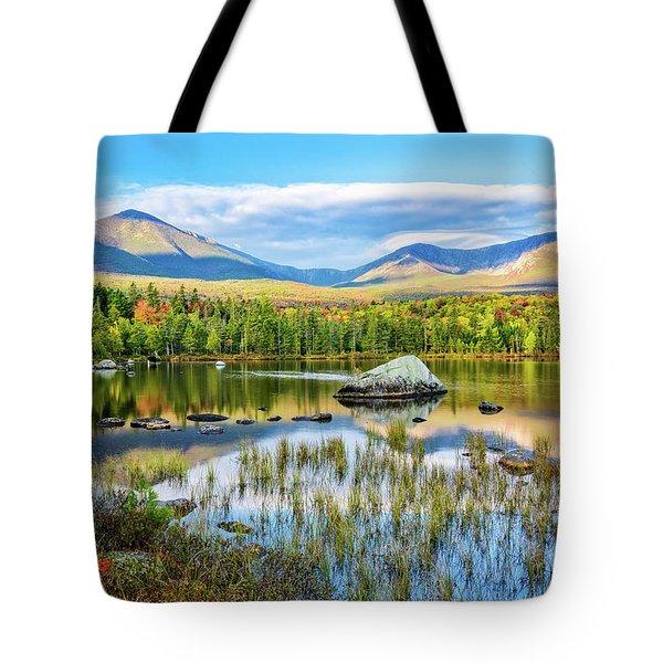 Autumn Mt.katahdin Baxter Sp Maine Tote Bag