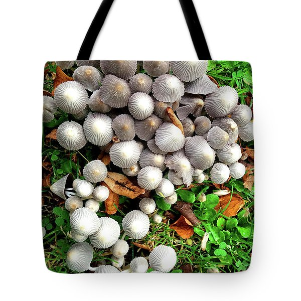Autumn Mushrooms Tote Bag by Nareeta Martin