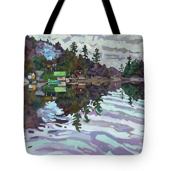 Autumn Narrows Tote Bag