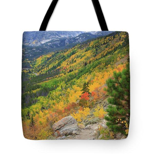 Autumn On Bierstadt Trail Tote Bag