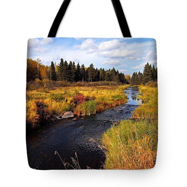 Autumn On Jackfish Creek Tote Bag
