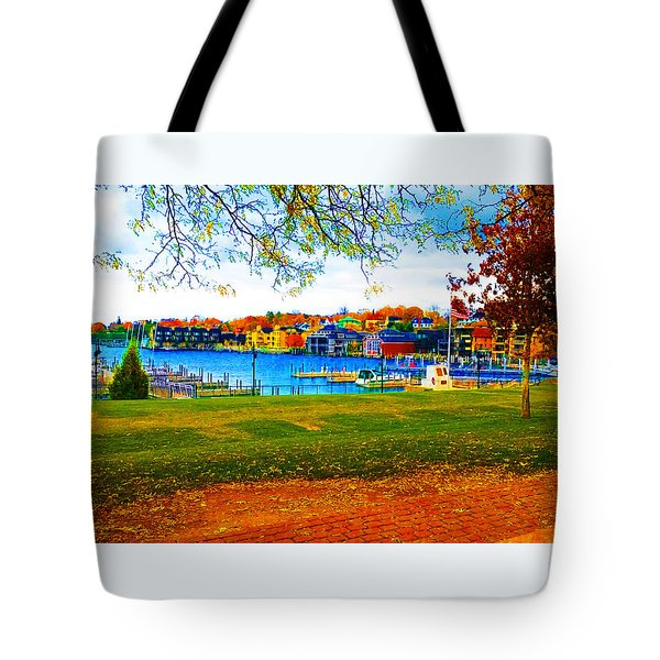 Autumn On Lake Charlevoix Tote Bag