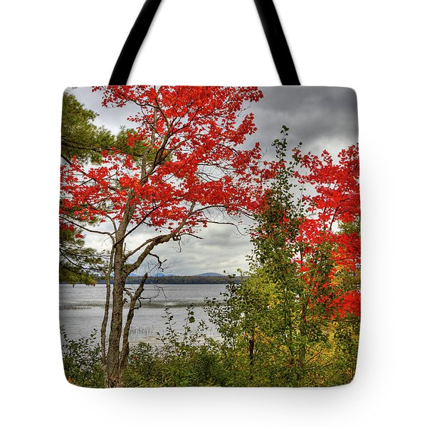 Tote Bag featuring the photograph Autumn On Raquette Lake by David Patterson