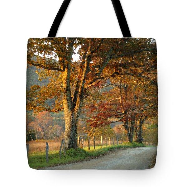 Autumn On Sparks Lane Tote Bag