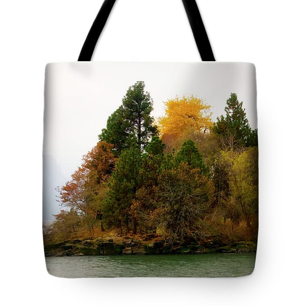 Autumn On The Columbia Tote Bag by Albert Seger