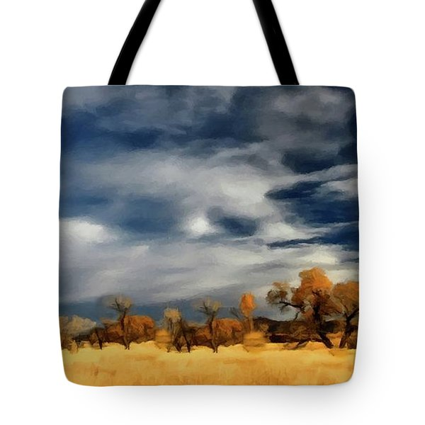 Autumn On The Edge Of The Great Plains  Tote Bag by David Dehner