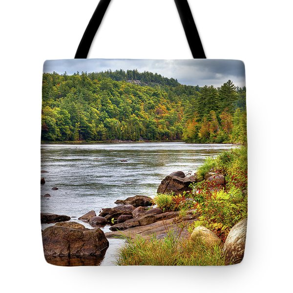 Tote Bag featuring the photograph Autumn On The Hudson River by David Patterson