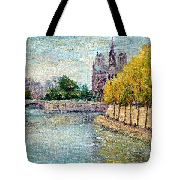 Autumn On The Seine Tote Bag