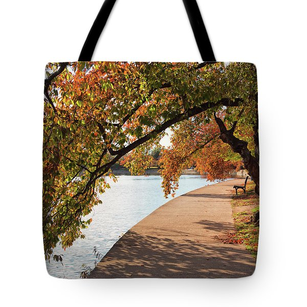 Autumn On The Tidal Basin Tote Bag