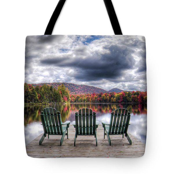 Tote Bag featuring the photograph Autumn On West Lake by David Patterson