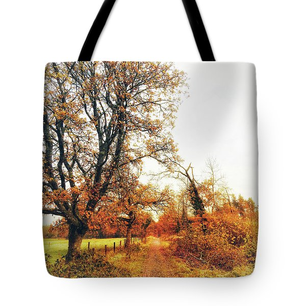 Autumn On White Tote Bag
