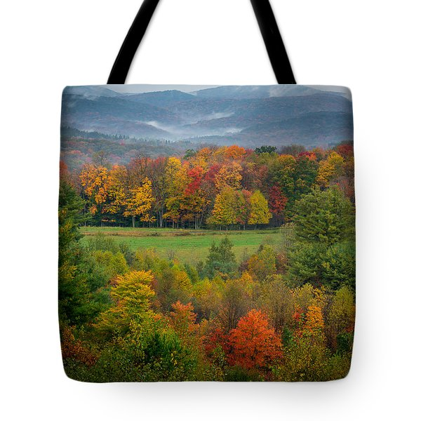 Autumn On Winslow Hill Tote Bag