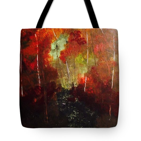 Tote Bag featuring the painting Sunset Trail by Denise Tomasura