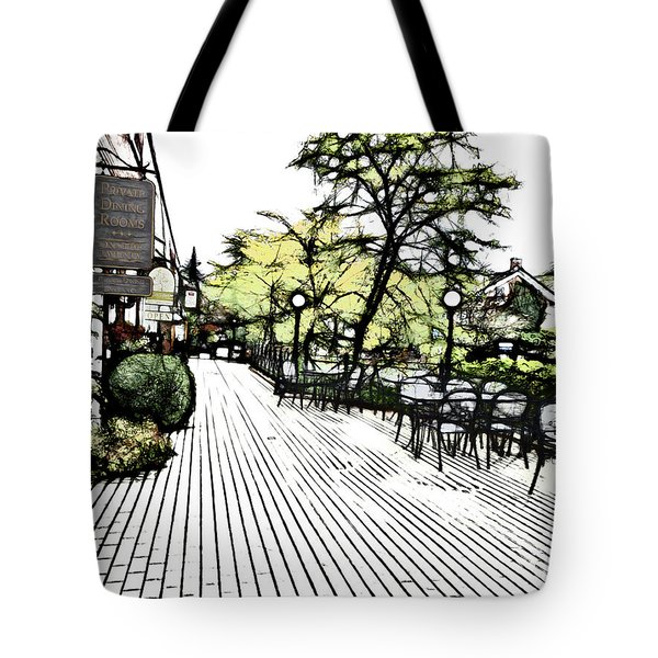 Autumn Patio Tote Bag