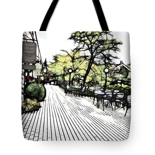 Autumn Patio Tote Bag