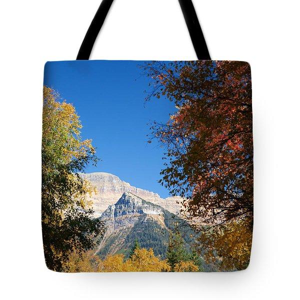 Autumn Peaks Tote Bag