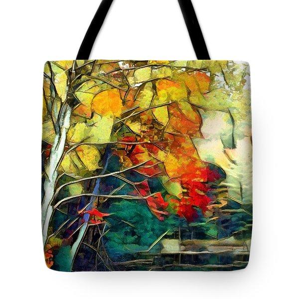 Tote Bag featuring the digital art Autumn by Pennie McCracken