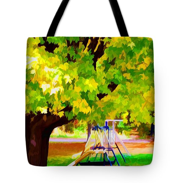 Autumn Playground Tote Bag by Lanjee Chee