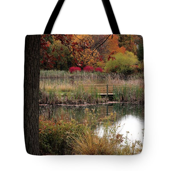 Autumn Pond In Maryland Tote Bag
