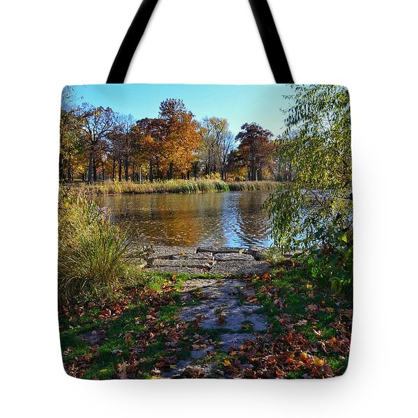 Tote Bag featuring the photograph Autumn Pond by Nikki McInnes