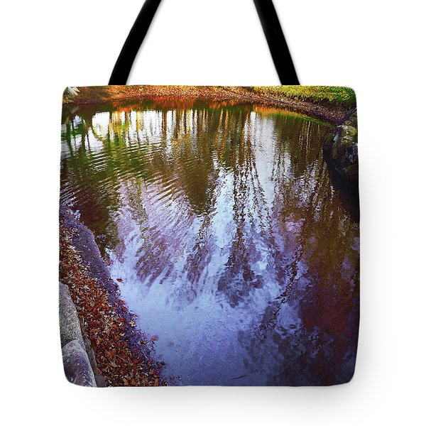 Autumn Reflection Pond Tote Bag