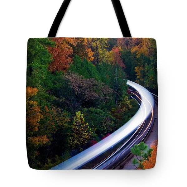 Autumn Rails Tote Bag