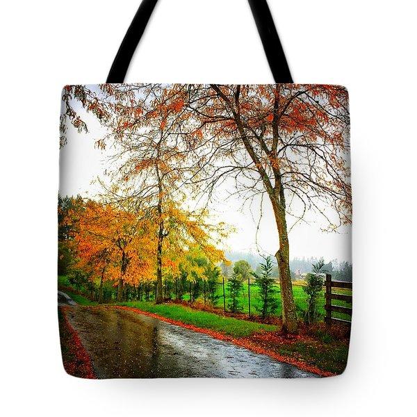 Autumn Rains Tote Bag