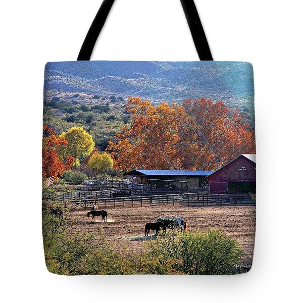 Autumn Ranch Tote Bag