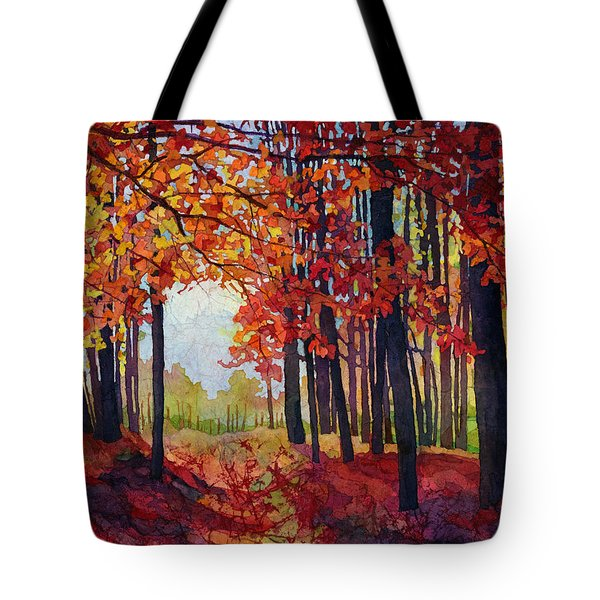 Tote Bag featuring the painting Autumn Rapture by Hailey E Herrera