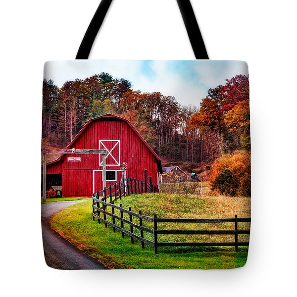 Autumn Red Barn Tote Bag