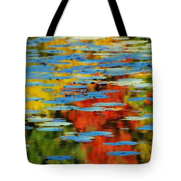 Tote Bag featuring the photograph Autumn Lily Pads by Diana Angstadt