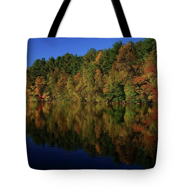 Autumn Reflection Of Colors Tote Bag by Karol Livote