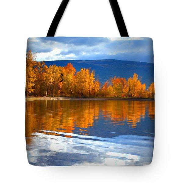 Autumn Reflections At Sunoka Tote Bag