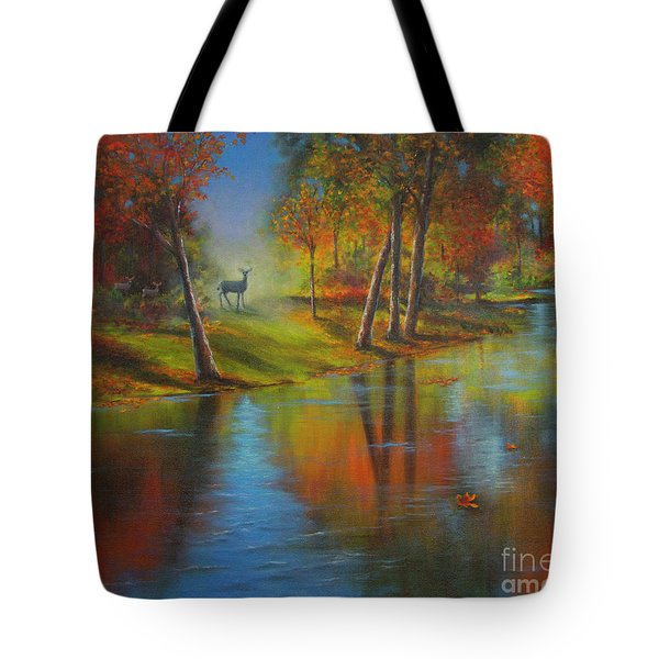 Autumn Reflections Tote Bag by Jeanette French