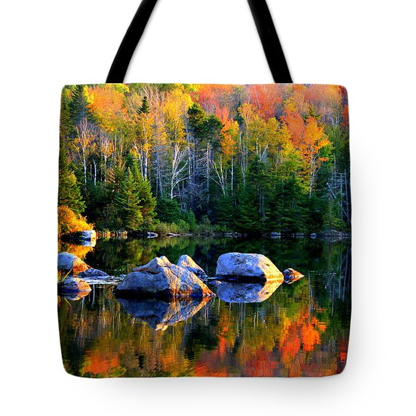 'autumn Reflections - Noyes Pond' Tote Bag