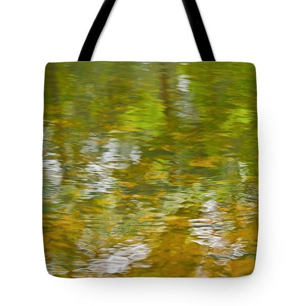 Tote Bag featuring the photograph Autumn Reflections by Wanda Krack