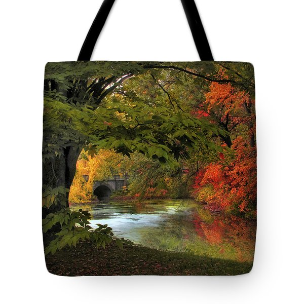 Tote Bag featuring the photograph Autumn Reverie by Jessica Jenney