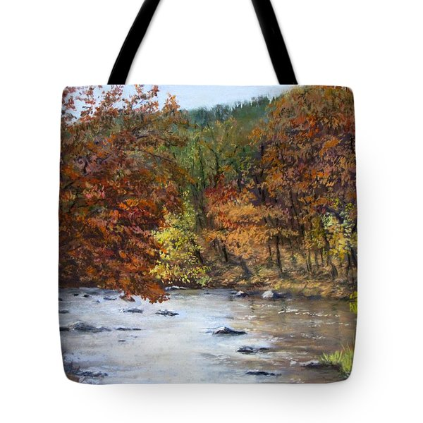 Autumn River Tote Bag by Jack Skinner