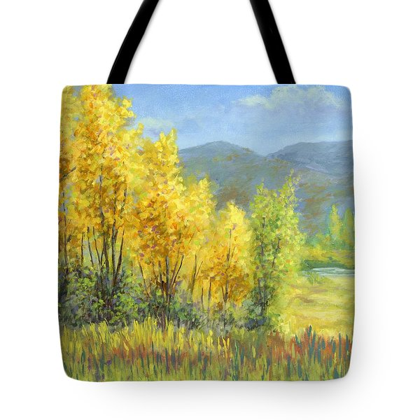 Autumn River Valley Tote Bag
