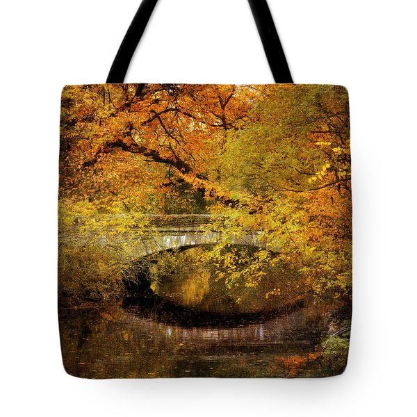 Autumn River Views Tote Bag by Jessica Jenney