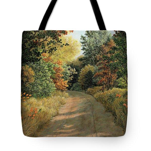 Autumn Road Tote Bag
