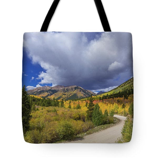 Autumn Road To Winfield Tote Bag