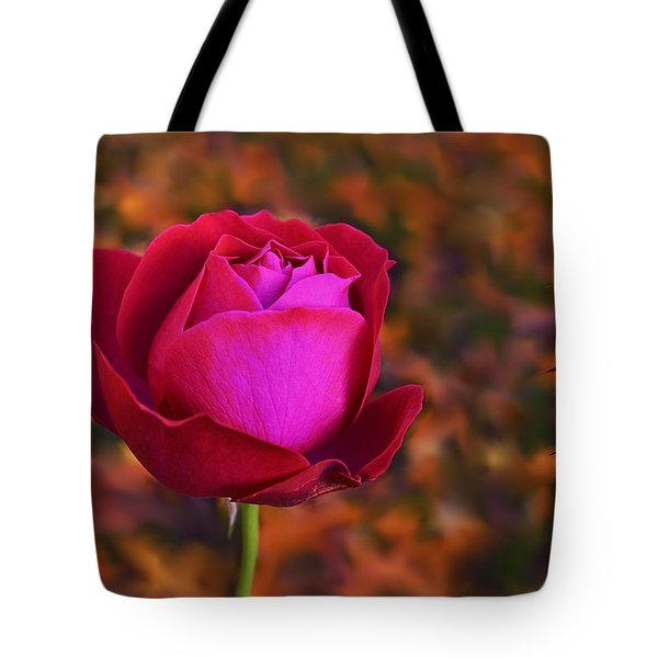 Tote Bag featuring the photograph Autumn Rose by Isabella F Abbie Shores FRSA