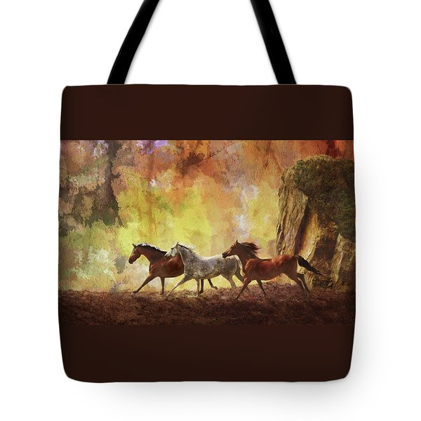 Autumn Run Tote Bag