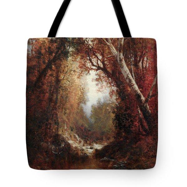 Autumn Scene In The Adirondacks Tote Bag