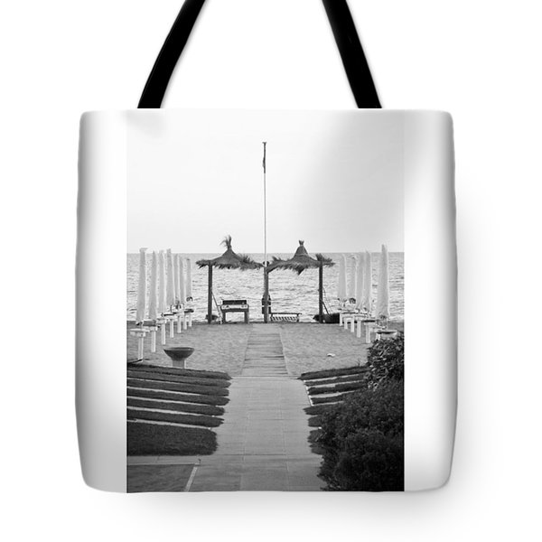 #autumn #seaside #blackandwhiteitalia Tote Bag
