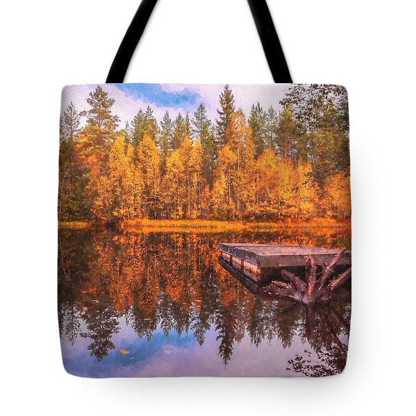 Tote Bag featuring the photograph Autumn Season  by Rose-Maries Pictures