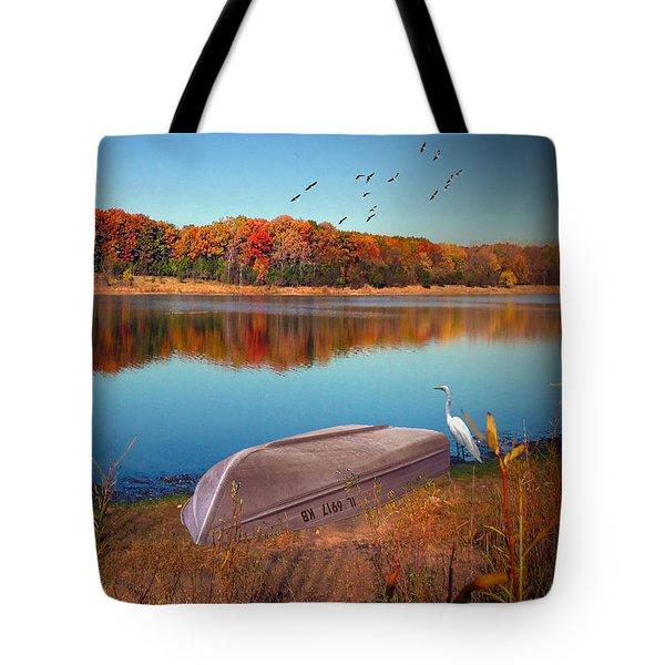 Autumn Serenade Tote Bag by Cedric Hampton