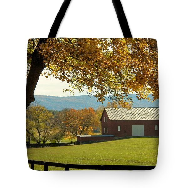 Autumn Shenandoah Barn Tote Bag
